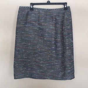 TAHARI knit tweed colorful skirt 12 new w/o tags
